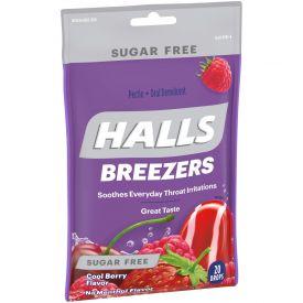 Halls Cough Drops Sugar Free Cool Berry 20 Ct Pack