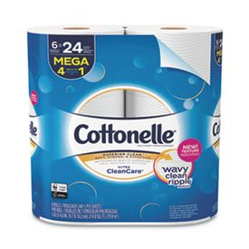 Cottonelle Ultra Clean Care 1-Ply, 340 Sheets/Roll