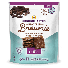 Crunchmaster Protein Brownie Thins Dark Chocolate 3.54oz.