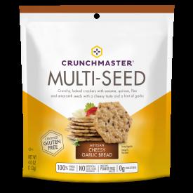 Crunchmaster  Multi-Seed Artisan Cheesy Garlic Bread Crackers 4oz