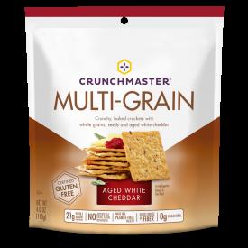 Crunchmaster Multi-Grain White Cheddar Crackers 4oz.