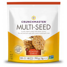 Crunchmaster Multi-Seed Roasted Garlic Crackers 4oz.
