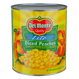 Del Monte Diced Yellow Cling Peaches In Extra Light Syrup 105oz.