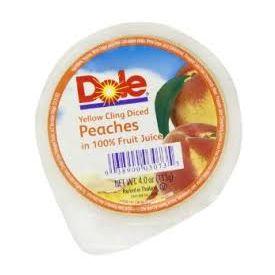 Dole Diced Peaches  4oz