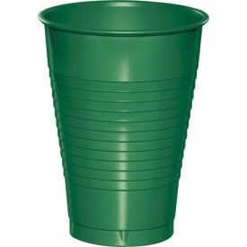 Emerald Green Plastic Cups, 12 Oz