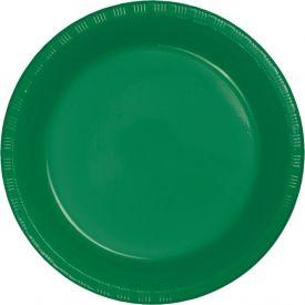 Emerald Green Banquet Plastic Plates 10