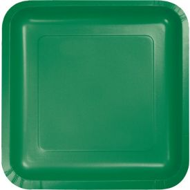Emerald Green Dinner Paper Plates Square 9