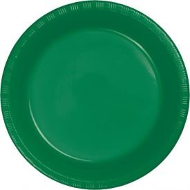 Emerald Green Dinner Plastic Plate 9