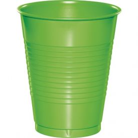 Fresh Lime Plastic Cups 16 Oz