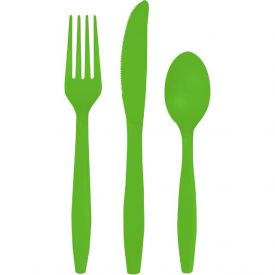 Fresh Lime Plastic Cutlery Assortment, Premium
