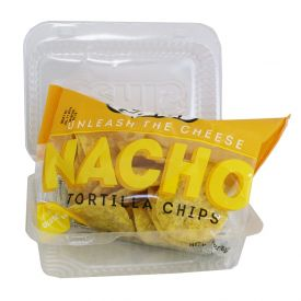 Gehl's Individual Nacho Tortilla Chips with Plastic Clamshell Container 3oz