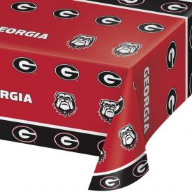 University of Georgia Table Cover Plastic 54
