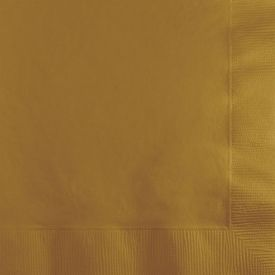 Glittering Gold Beverage Napkins 3-Ply