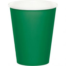 Emerald Green Cups Hot Cold 9 oz