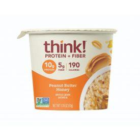 Thinkthin Honey Peanut Butter Oatmeal Bowls 1.76oz.