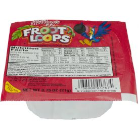 Kelloggs Fruit Loops Cereal Bowls .75oz