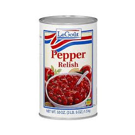 LeGout Sweet Pepper Relish 50oz