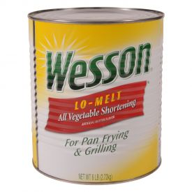 Wesson Lo-Melt All Vegetable Shortening 6 lb