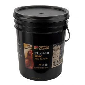 Custom Culinary Gold Label No MSG Chicken Base - 50lb