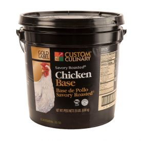 Custom Culinary Gold Label No MSG Roasted Chicken Savory Base - 20lb