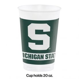 MICHIGAN STATE UNIVERSITY PLASTIC CUPS 20 OZ.
