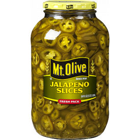 Mt Olive Sliced Jalapenos 4-1 gallon