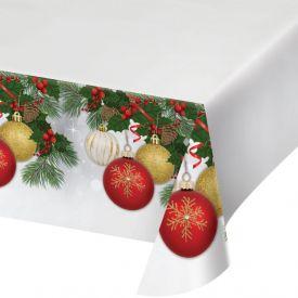 ORNAMENT ELEGANCE PLASTIC TABLE COVERS BORDER PRINT