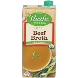 Pacific Foods Organic Low Sodium Beef Broth, 32 oz