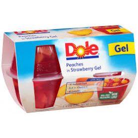 Dole Peaches in Strawberry Gelatin 4oz