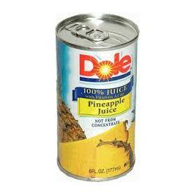 Dole Pineapple Juice 6 oz.