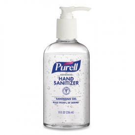 Purell Advanced Gel Hand Sanitizer Pump Refreshing Scent 8 oz Pump Bottle,