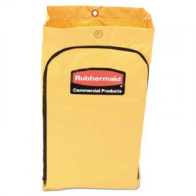 Rubbermaid® Commercial Zippered Vinyl Cleaning Cart Bag, 21 Gal