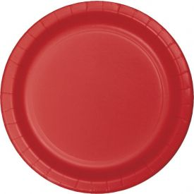Classic Red  Paper Dinner Plates 9