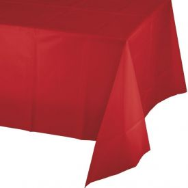Classic Red Table Covers, Plastic 54