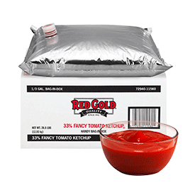 Red Gold 33% Fancy Ketchup Bag in Box - 3 gallon
