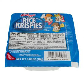Kelloggs Rice Krispies Cereal Bowls .63oz