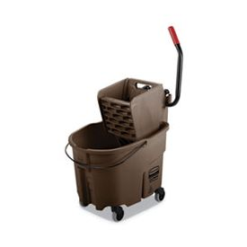 Rubbermaid® Commercial WaveBrake Bucket/Wringer Combos, Brown