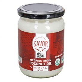 Savor Imports Organic Virgin Coconut Oil 16oz.