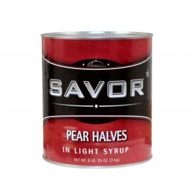 Savor Pear Halves in Light Syrup 105oz.