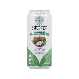 Steaz Coconut Water Organic Iced Green Tea 16oz