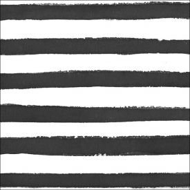 Dotted & Striped Beverage Napkin, 3 Ply, Licorice