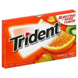 Trident Tropical Twist Go Cup Gum 14ct