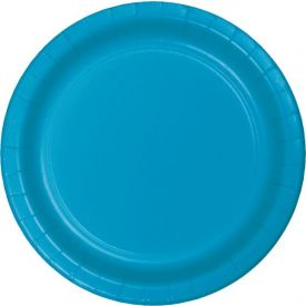 Turquoise Paper Appetizer or Dessert Plates 7