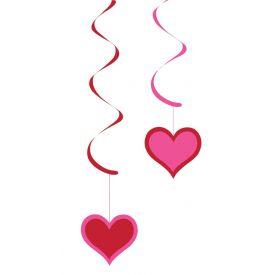 VALENTINE DÉCOR DIZZY DANGLERS PAPER HEARTS