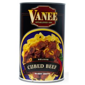 Vanee Cubed Beef in Broth 48oz