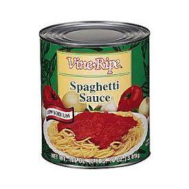Vine Ripe Low Sodium Spaghetti Sauce 106oz.