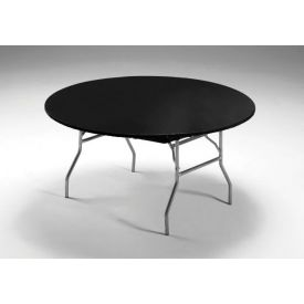 Black Stay Put Plastic Table Covers 60