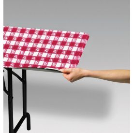 Red Gingham Stay Put Plastic Table Covers 30
