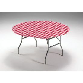 Red Gingham Stay Put Plastic Table Covers 60