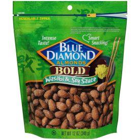 Blue Diamond Wasabi & Soy Sauce Almonds 12oz.